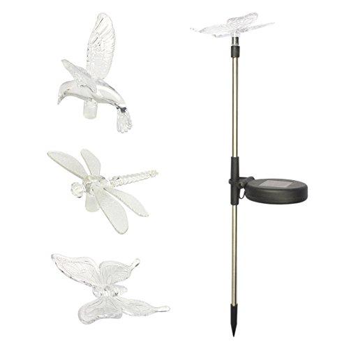 Dragonfly Garden Rod - Yochea Solar Powered Outdoor Hummingbird, Butterfly & Dragonfly Solar Garden Stake Light for Garden Decorations and Flower Bed