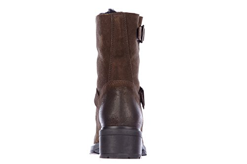 Hogan Damen Wildleder Stiefeletten Stiefel Ankle Boots montone Braun