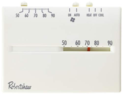 Robertshaw 9200H Deluxe Mechanical Heat and Cool Thermostat, 24 - Thermostats Mercury Free Mechanical 24vac