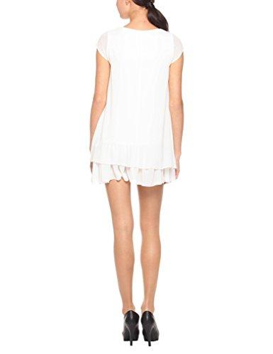 Femme Bianco Blanc Abito Scampanato Robe Capri Bnc0 Solo fnqZRwIvW