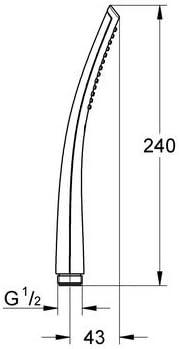 27184000 Grohe Ondus Stick alcachofa de ducha Ref