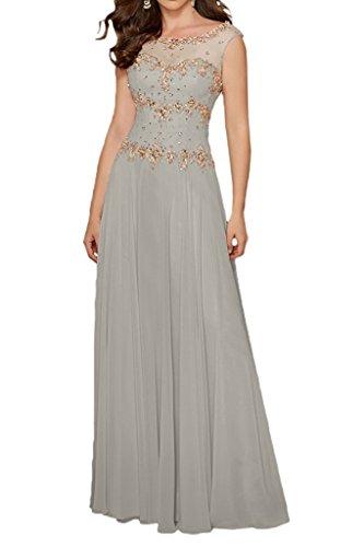 Brautmutterkleider mit mia Chiffon Linie Rock Abendkleider Lemon Silber Langes Elegant A Braut Partykleider La Steine Gruen f0POqdaaw