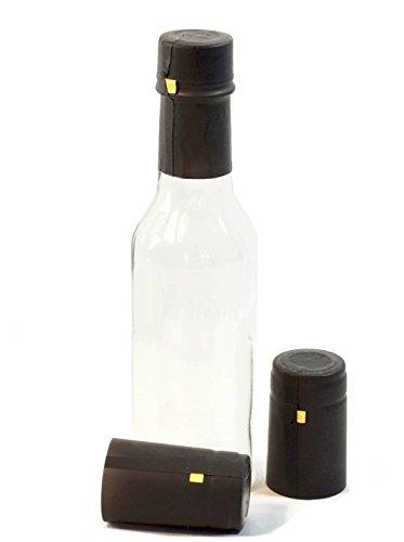 Bottle 30ct - Shrink Capsules for 5oz Woozy Bottles, Black - Pack of 30