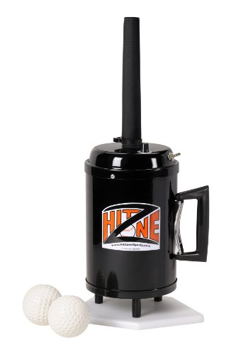 - Hit Zone Deluxe Baseball & Softball Air Powered Batting Tee Training Aid System! Suspends A Real Baseball Or Plastic Training Ball in Mid-Air! Includes Dozen Plastic Balls - Made in The USA!