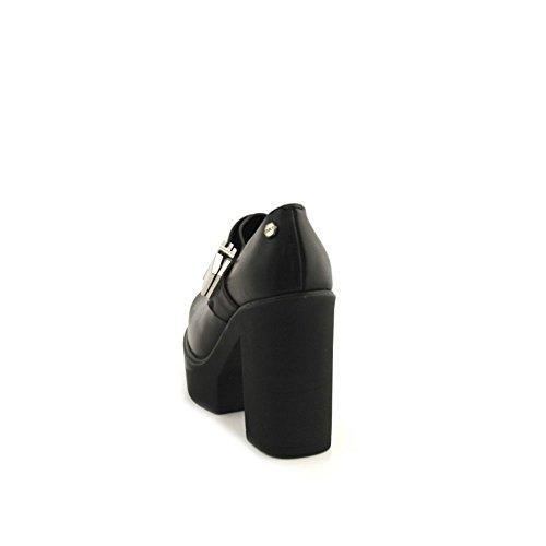 nera 102778 tacco pelle Scarpe CLE black tronchetti robusto donna Cult 35 taglia 6Z8Ba8W