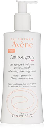 Eau Thermale Avene Antirougeurs Clean Redness-Relief Refreshing Cleansing Lotion, 13fl.oz/400ml (Cleanser Gentle Avene)