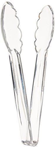 Winco Polycarbonate Utility Tongs, 9-Inch, Clear