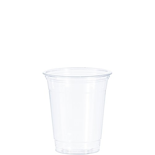 Dart TP12 12 oz Practical-fill Ultra Clear Squat PET Plastic Cup (Case of 1000)