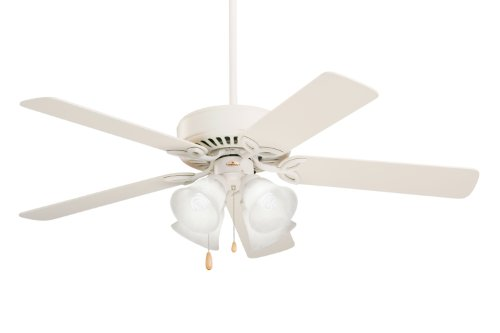 Emerson CF711AW Pro Series II Indoor Ceiling Fan, 50-Inch Blade Span, Summer White Finish (Oak Traditional Fan Emerson Ceiling)