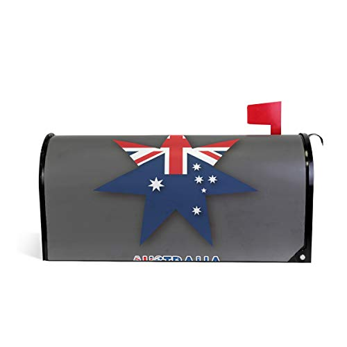 NYTTT Magnetic Mailbox Cover Wraps Australia Star Flag Post Mail Box Cover Decor Standard Size]()