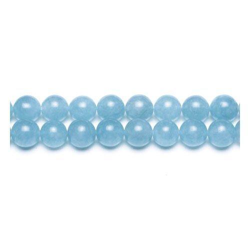 2 opinioni per Filo 62+ Ciano Giada Malese 6mm Tondo Liscio Perline- (GS9951-2)- Charming Beads