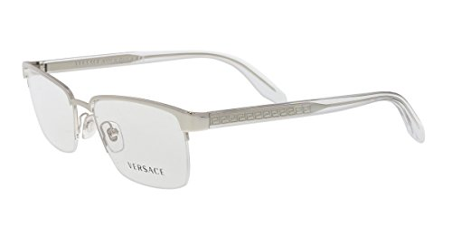 Versace Men's VE1241 Eyeglasses Silver - Prescription Glasses Versace For Men