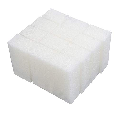 LTWHOME Foam Filter Pads Fit for Aqua Clear 50/200 AquaClear 50-Gallon (Pack of 12) ()