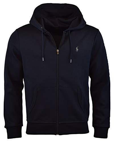 Polo Ralph Lauren Men's Double-Knit Full-Zip Hoodie, M, Aviator Navy ()