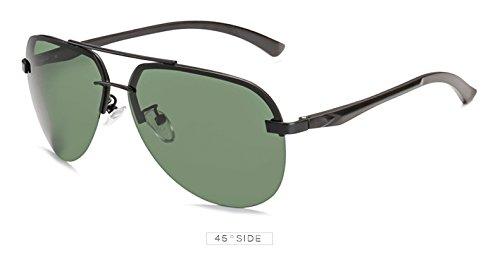 Pynxn Unisex de Gafas la de polariod piloto Mujeres vidrios Marca Conducci¨®n polarizadas para de Verde Gris Oculos Negro Negro Aviaci¨®n Sol los Sun Deportes Hombres de Las de G15 9030 Espejo rPrxOq