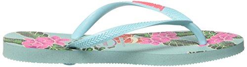 Slim Floral Havaianas Bleu Tongs Femme Blue Ice qBAAOEn8