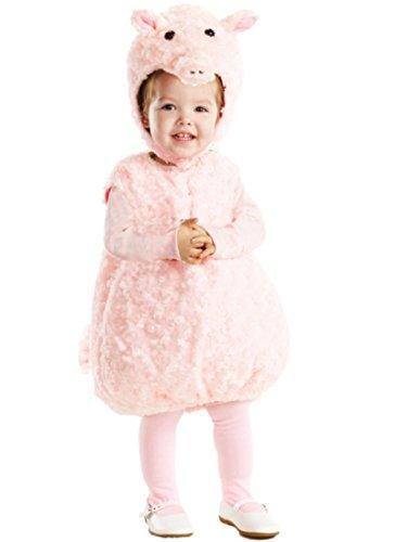 Underwraps Baby's Piglet Belly-Babies, Pink, Medium (Infant Piglet Costume)