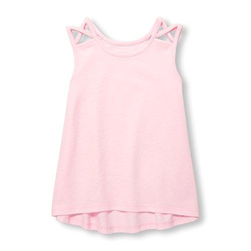 Baby Girls Racerback Casual Tank Top, Pink Admirer 03372, 12-18MOS (Baby Girls Tank Top)