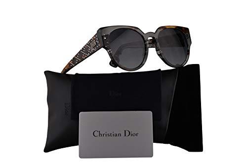 Christian Dior LadyDiorStuds3 Sunglasses Grey Black Spotted w/Dark Grey Gradient Lens 52mm ACI9O LadyDiorStuds3/S Ladydiorstuds3 Lady Dior Studs 3 LadyDiorStuds 3