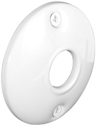 Defender Security E 2564 Steel Door Knob Rosettes, 2-1/2 Inch, Stamped Steel, White, Painted Finish, Pack of 2