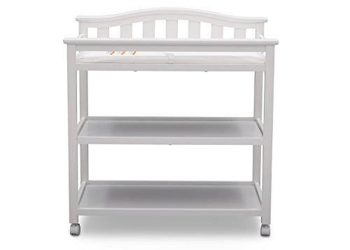 Delta Children Bell Top Changing Table with Casters, White by Delta Children (Image #5)