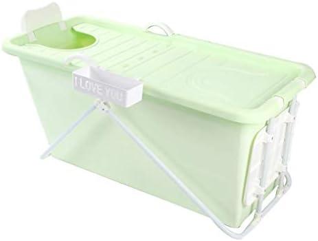 インフレータブルバスタブアダルト折りたたみ浴槽風呂バレル大人、厚いプラスチックバケツの浴槽 (Color : Yellow)