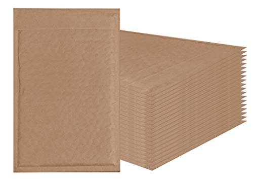 Amiff Natural Kraft Bubble mailers 6x9 Brown Padded envelopes 6 x 9. Pack of 20 Kraft Paper Cushion envelopes. Exterior Size 7x10 (7 x 10). Peel and Seal. Mailing, Shipping, Packing, Packaging. ()