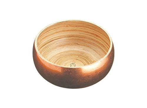 Master Class 17cm Small Copper Lacquered Artesa Pressed Bamboo Serving Bowl,