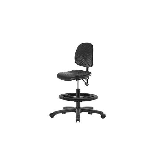 Thomas ECOM PMBCH-MB-RG-T1-A1-CF-RG Polyurethane Medium Bench Height Chair with Black Nylon Base with Tilt, Medium Back,...