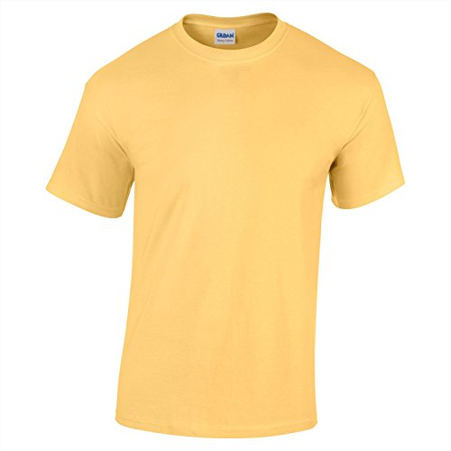 Gildan Heavy Cotton Adult Tshirt - 47 Colours / S - 3XL - Yellow Haze - M