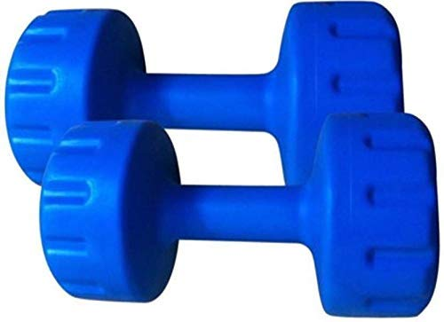 Monika Sports Fixed PVC Dumbbells Blue