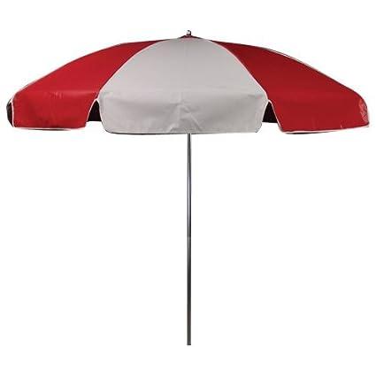 Perfect Outdoor Umbrella 6.5u0027 Vinyl, Red/White