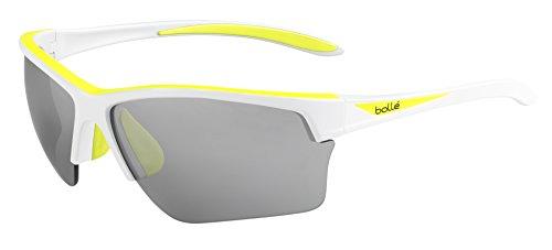 Bolle Flash Sunglasses Matte White/Fluorescent Yellow, - Sunglasses Running Bolle