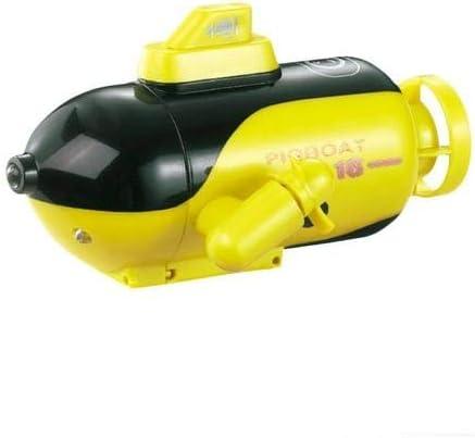 perfecti Mini RC Submarino Barco De Teledirigido con Luz LED, Niños Juguete Eléctrico Subacuático con Control Remoto para Piscina, Bañera
