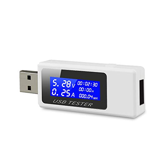 USB Tester, Benss Digital USB Safety Tester Power Charging Current Voltage Monitor, Charger Test Speed and Power Capacity Tester Meter by Benss
