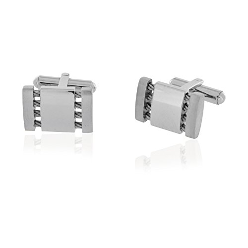 Colibri Stainless Steel Cufflinks (Stainless Steel and Cable Cufflinks)