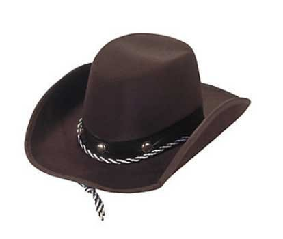 Cowboy Cowgirl Hat (Fun Express Baby Sized Cowboy Western Rodeo Hat, OSFA)