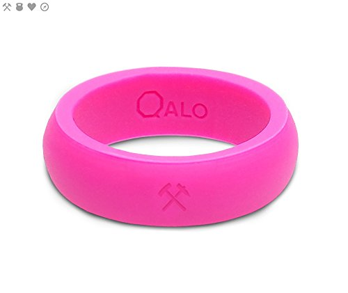 (Women's Pink Classic Quality Silicone Ring Size 06)