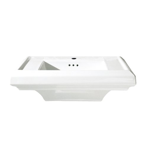 (American Standard 0790.001.020 Town Square 24-Inch Single Hole Pedestal Lavatory Basin, White)