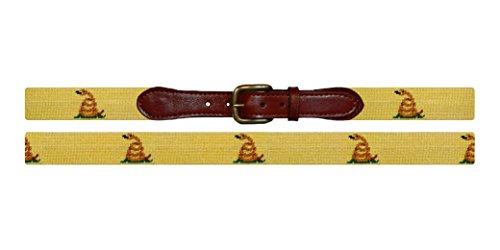 Smathers & Branson Gadsden Flag Traditional Needlepoint Belt, Size 40 (B-248-40) by Smathers & Branson