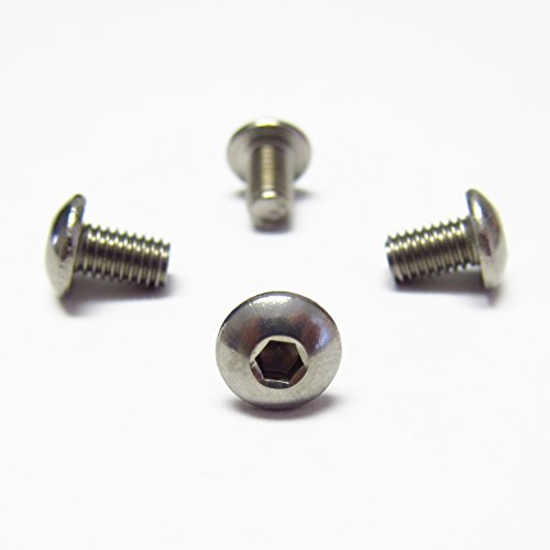 RSD (4) Rear License Plate Stainless Steel Screws for All BMW Models ~ Added Security with Button Head Socket Cap Style