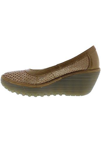 Fly London Kvinna Yobe842fly Pump Luna / Camel Cool / Matta