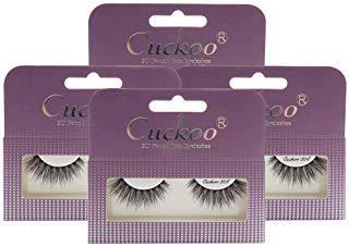 Cuckoo Eyelashes False eyelashes 18mm 3D Faux Mink Lashes 4 Pairs Natural Dramatic Fake Lashes Cuckoo 306
