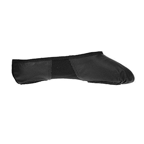 Black Shoes Split Sole Ballet Leather So Pink BAE11 Danca xwq4T808P
