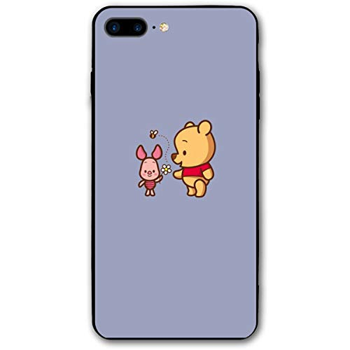 (SWDFFG iPhone 7 Plus iPhone 8 Plus Case- Stylish Winnie The Pooh and Piglet PC Slim Shockproof Flexible Back Protective Case for iPhone 7/8 Plus)