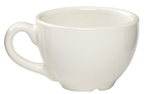 Rattleware 6-Ounce Cremaware Cup, White, 6-Pack (Ounce Porcelain 6)