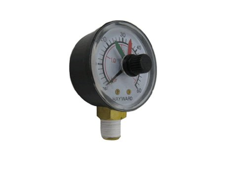 Hayward ECX271261 Boxed Pressure Gauge with Dial Replacement for Select Hayward Filter and Multiport Valve