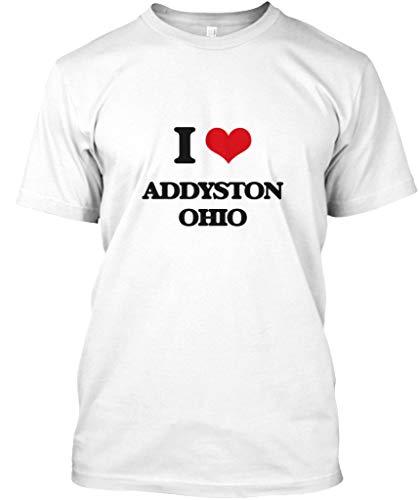 I Love addyston Ohio 2XL - White Tshirt - Hanes Tagless Tee