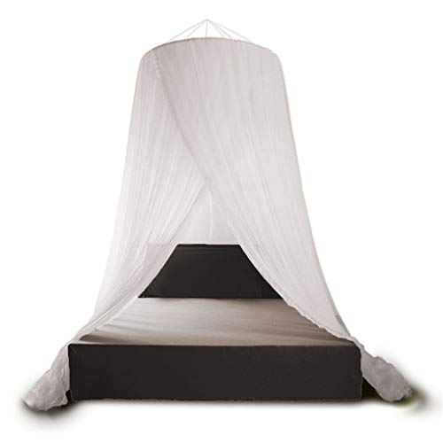 Dome Princess Tent Mosquito Net, Insect Encryption Screen Netting, Round European Style Palace Mosquito Net with Floor-Standing for Home Bedroom Bedding Protective,Fit1M/3.3FtBed
