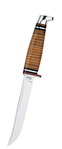 Case Medium Leather Hunter Knife - White Steel Handle Leather Sheath